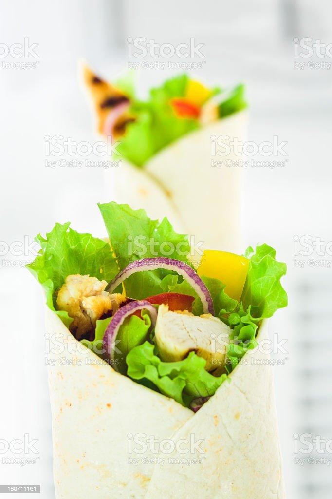Chicken Wrap Sandwich royalty-free stock photo