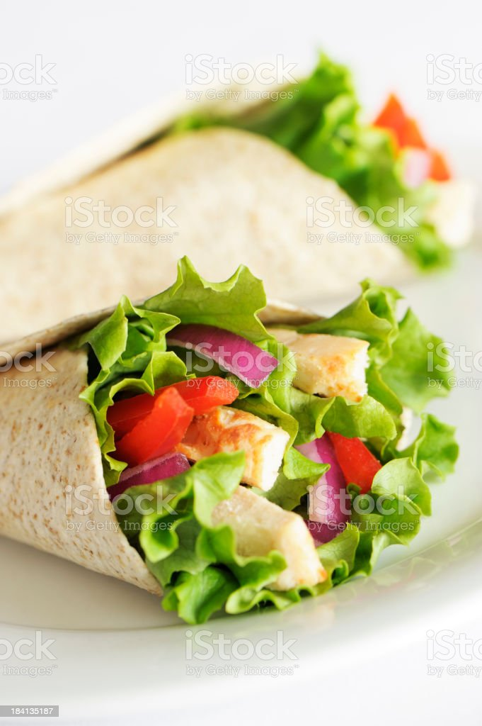 Chicken wrap sandwich royalty-free stock photo