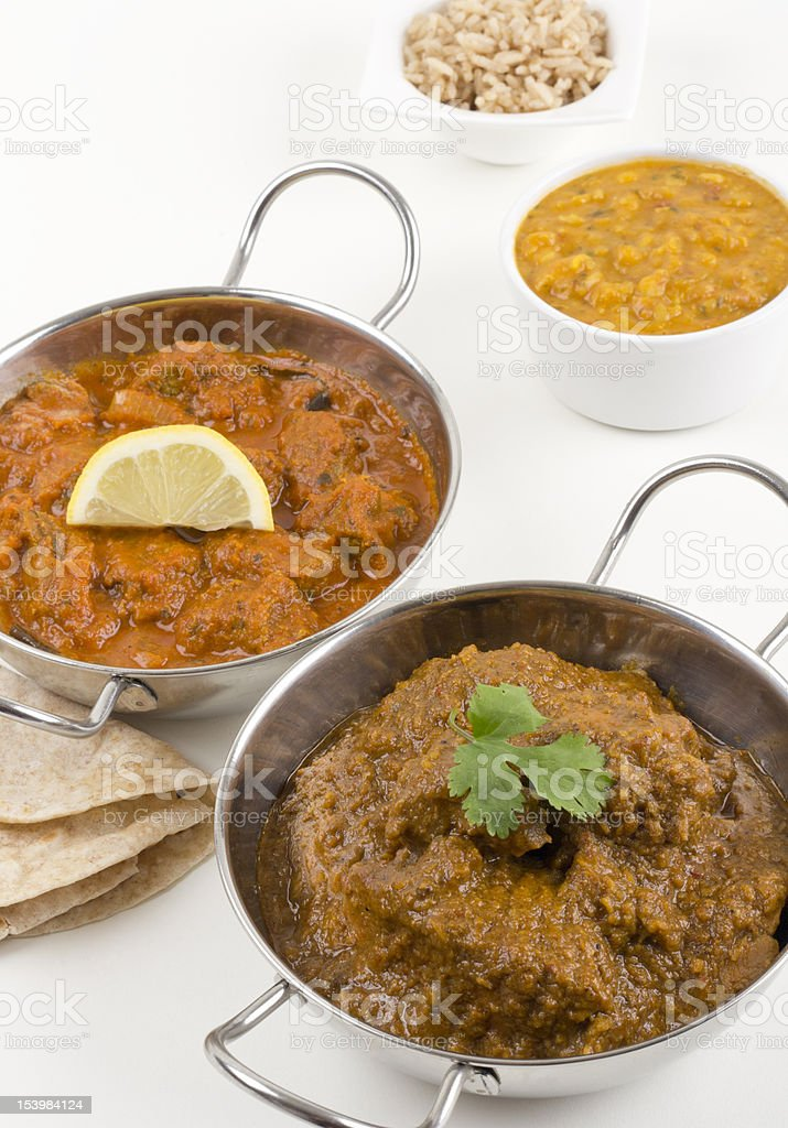 Chicken Xacuti & Meat Madras royalty-free stock photo