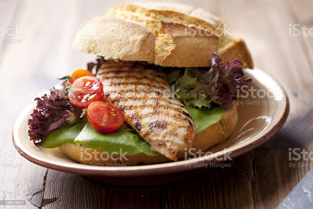 chicken?sandwich stock photo