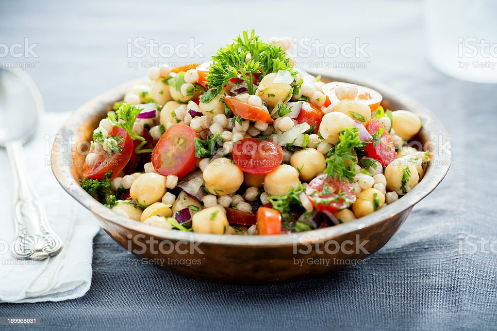 Chickpea and Couscous Salad stock photo