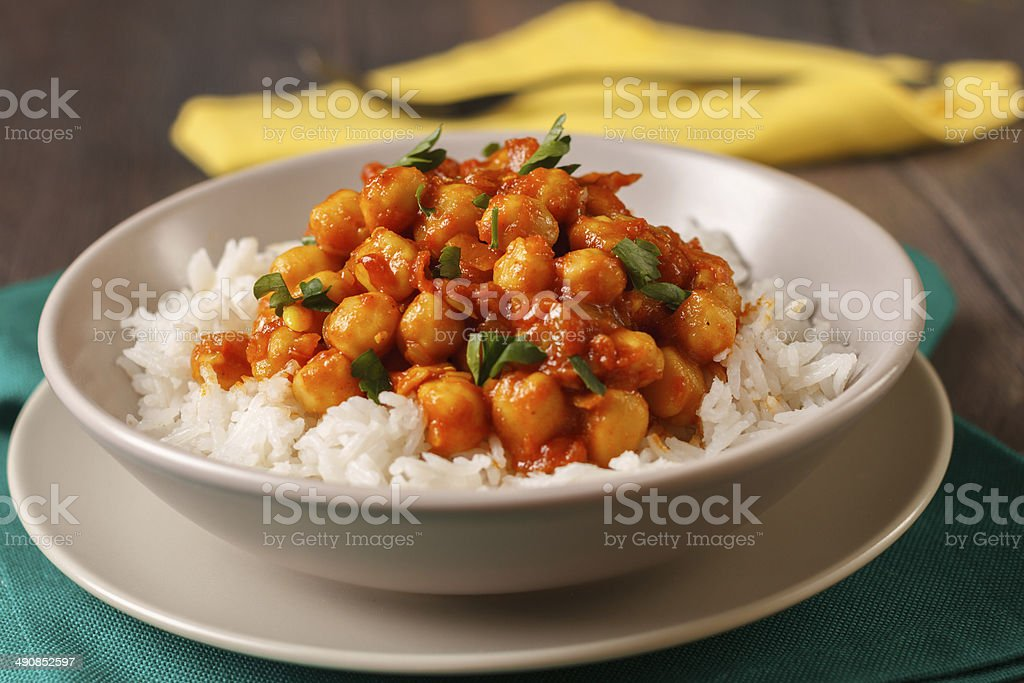 Chickpea curry stock photo