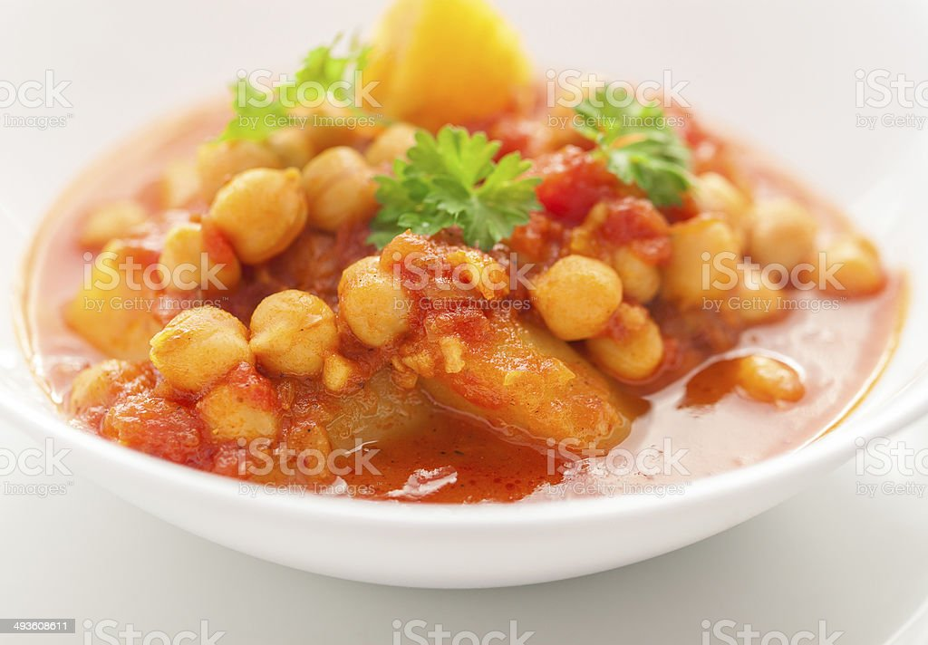 Chickpea Curry royalty-free stock photo