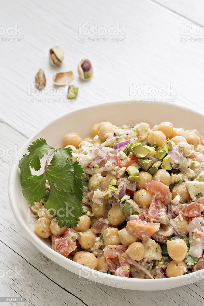 Chickpea Pistachio Salad stock photo