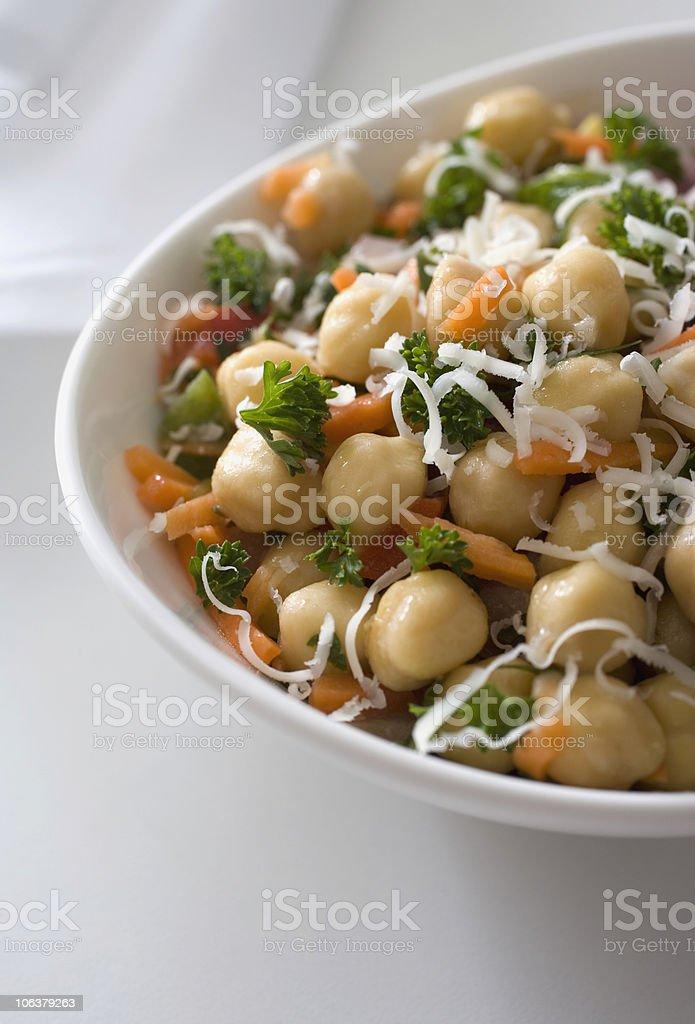 Chickpea salad royalty-free stock photo