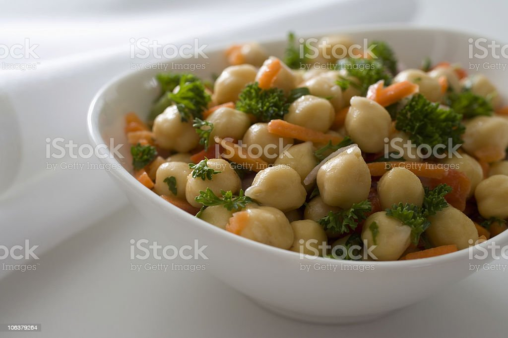 Chickpea salad royalty-free stock photo