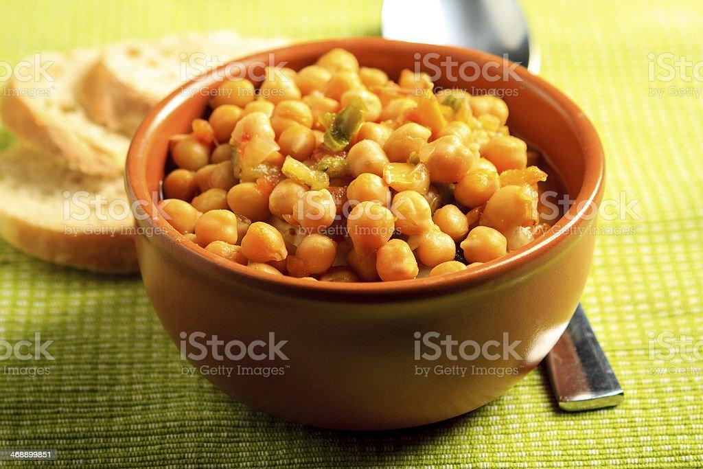 Chick-Pea soup stock photo