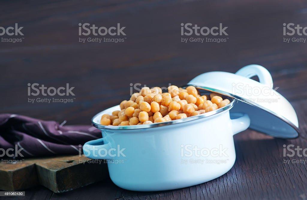 chickpeas stock photo