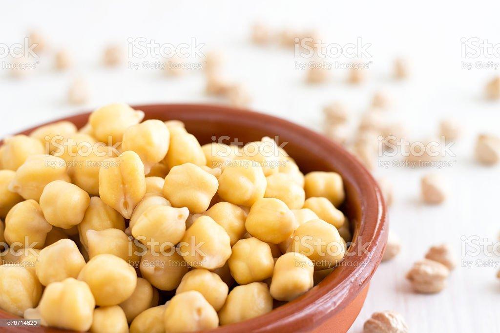 Chickpeas (Garbanzo beans) stock photo