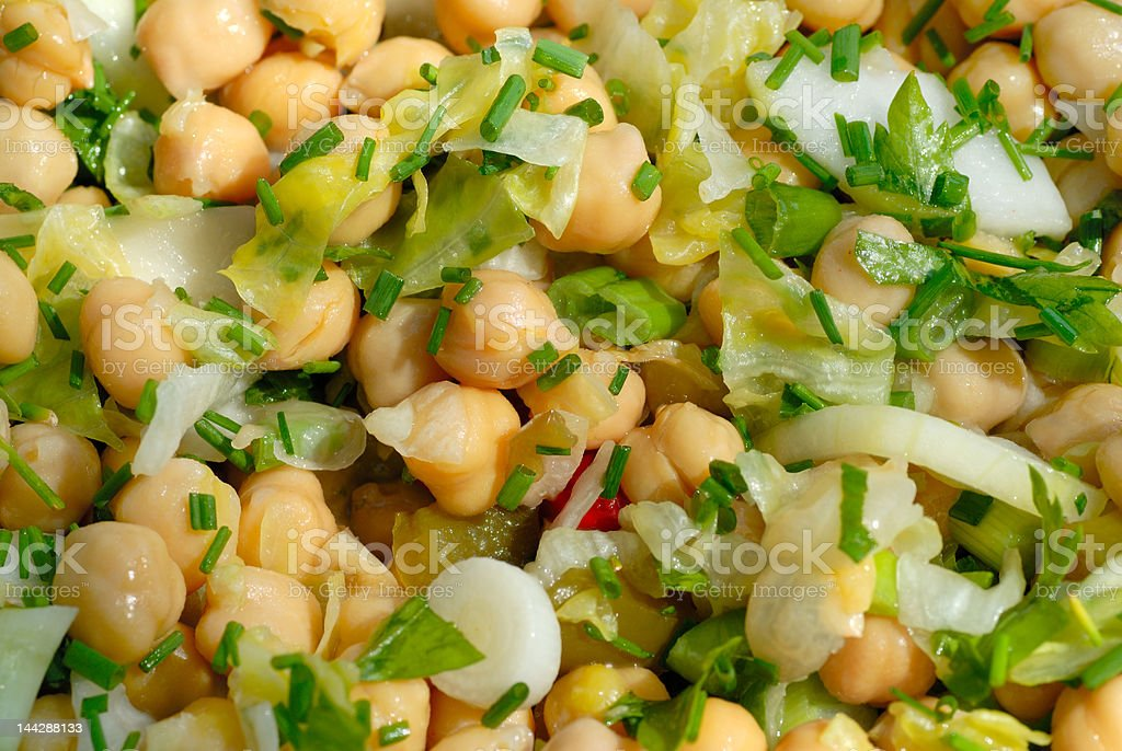 Chickpeas salad royalty-free stock photo
