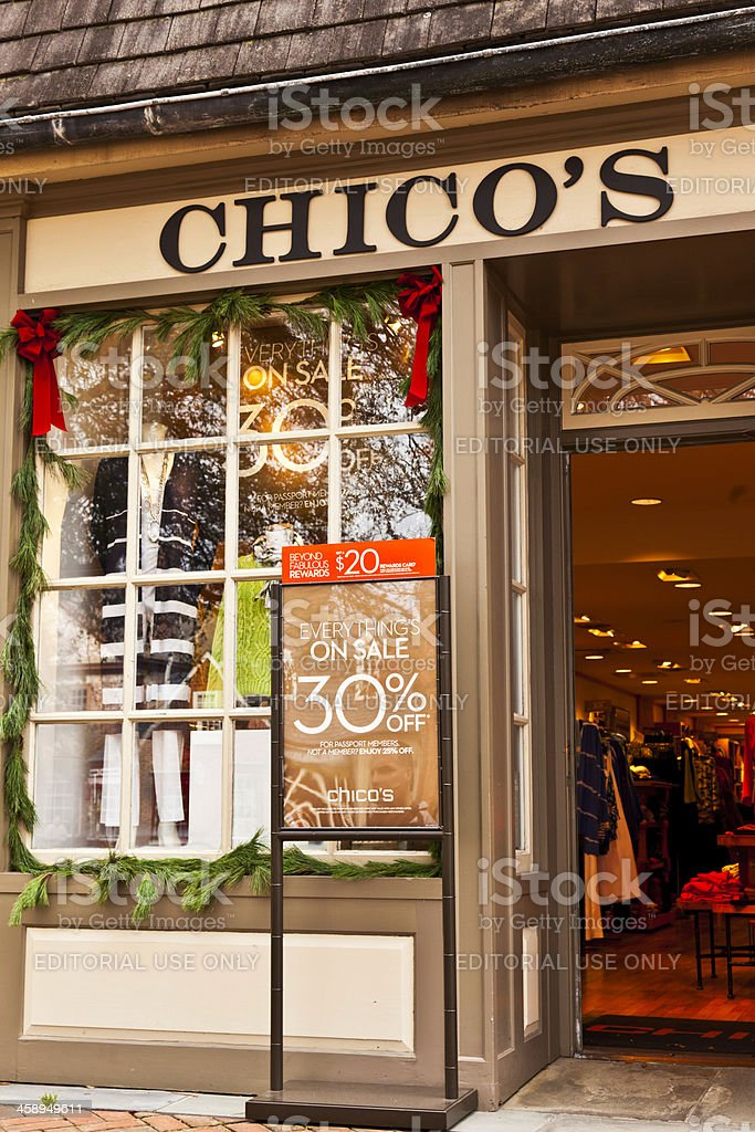 Chico's Clothing Store in Williamsburg, Virginia royalty-free stock photo