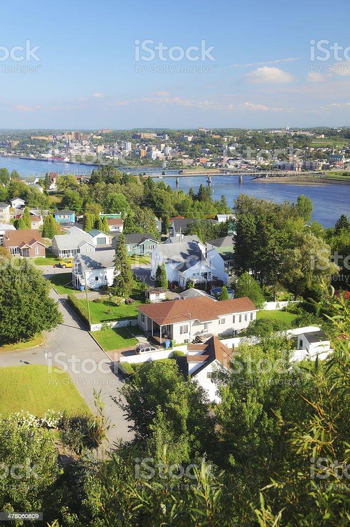 Chicoutimi Suburban Residential District stock photo