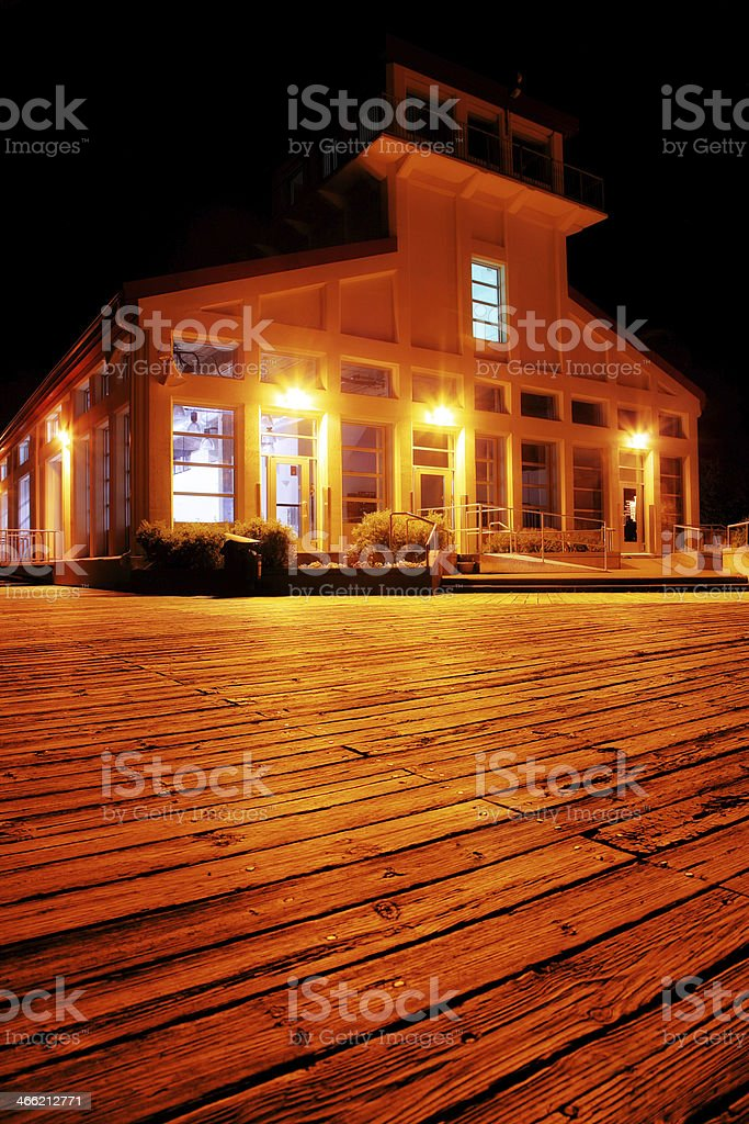 Chicoutimi Touristical Market at Night royalty-free stock photo