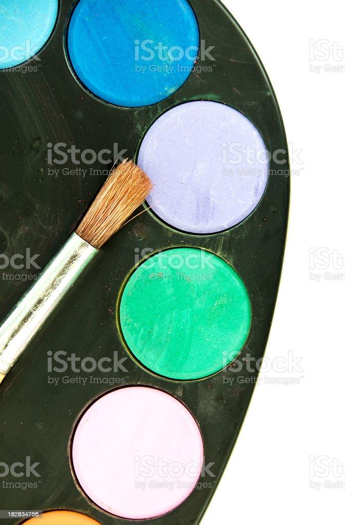 Chid's Paint Pallet stock photo