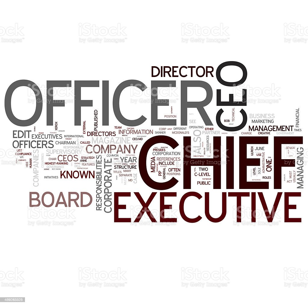 CEO - Chief Executive Officer stock photo