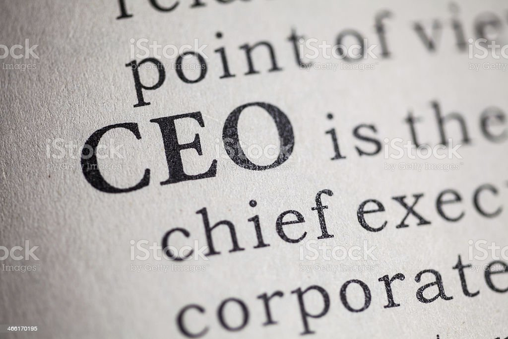 Chief executive officer stock photo