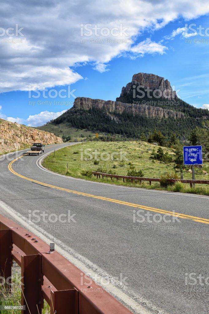 Chief Joseph Highway stock photo