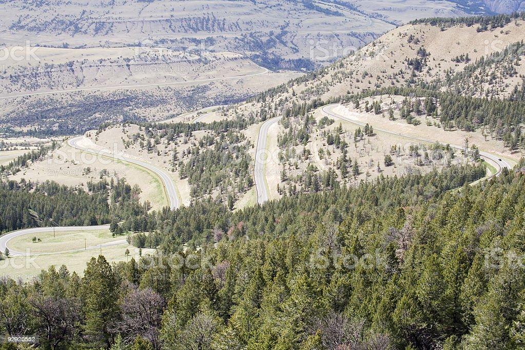 Chief Joseph Scenic Highway - Wyoming royalty-free stock photo