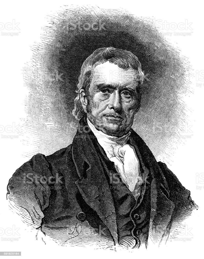 Chief Justice John Marshall stock photo