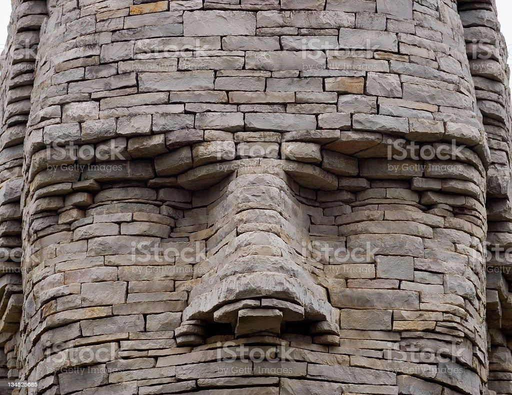 Chief Leatherlips Stone Stare stock photo