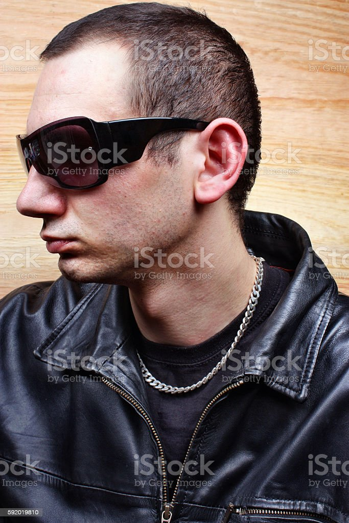 Chief mafia gangster stock photo