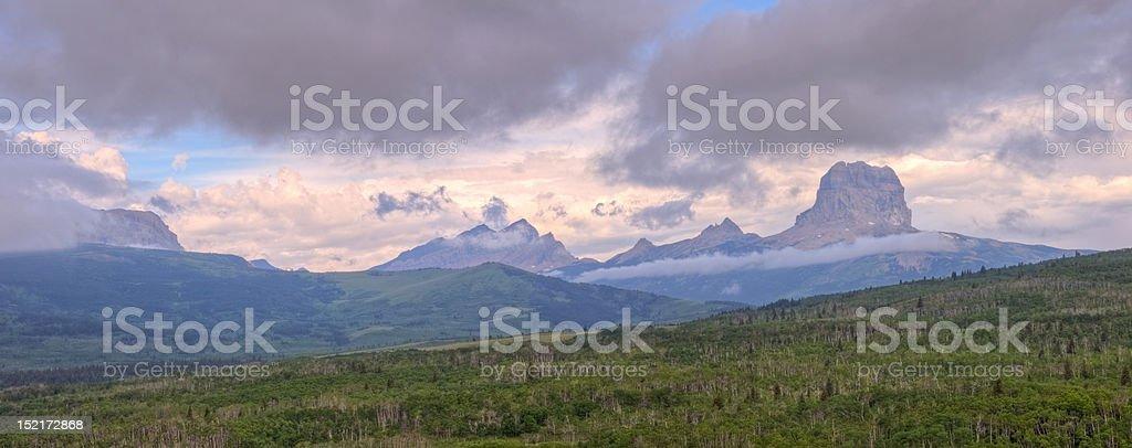 Chief Mountain Panorama royalty-free stock photo