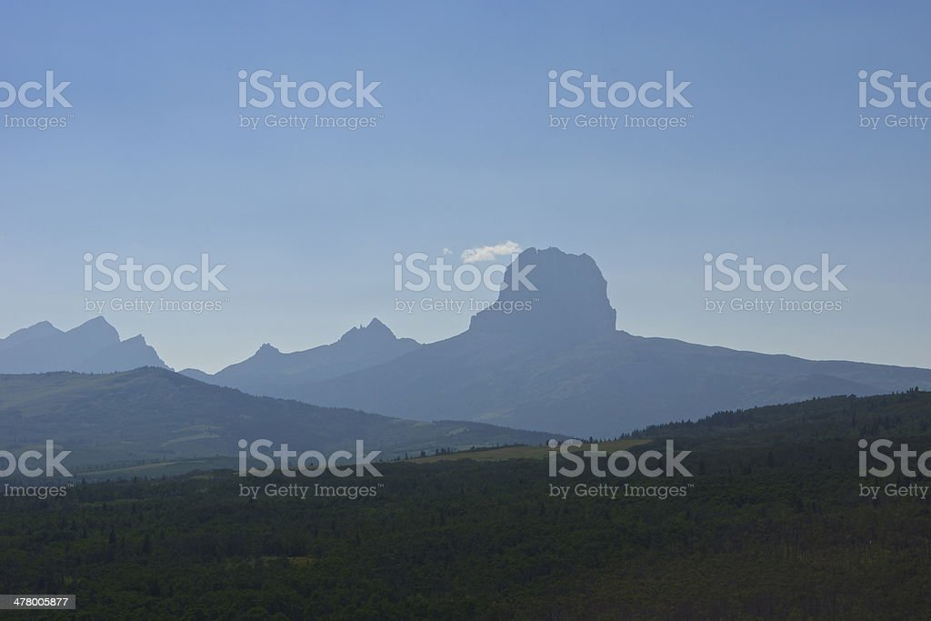 Chief Mountain royalty-free stock photo
