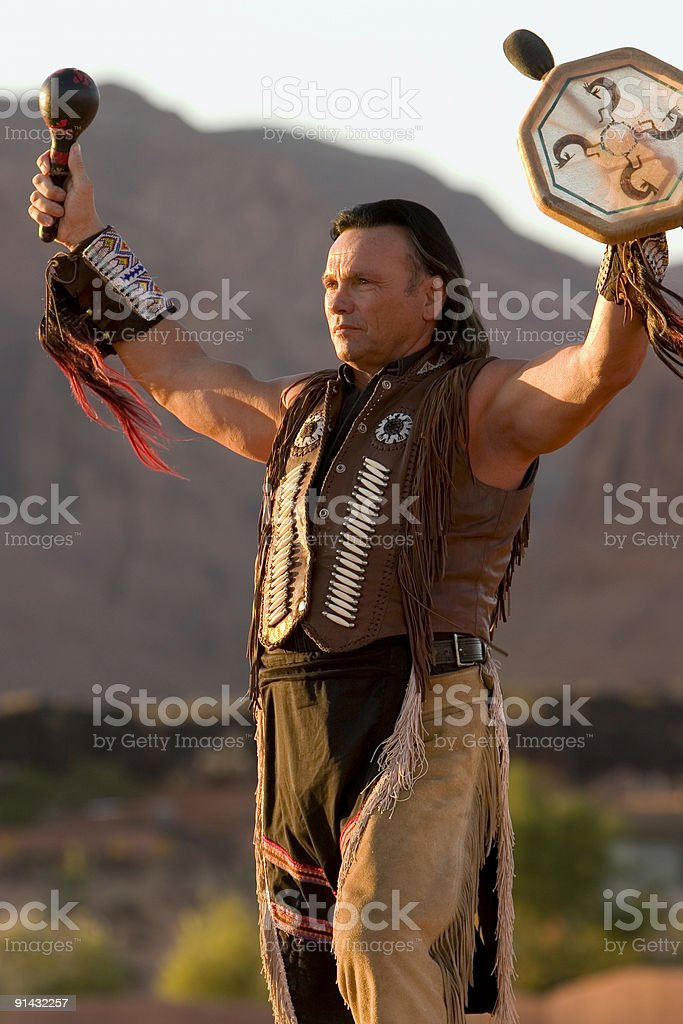 Chief's Blessing - Utah stock photo