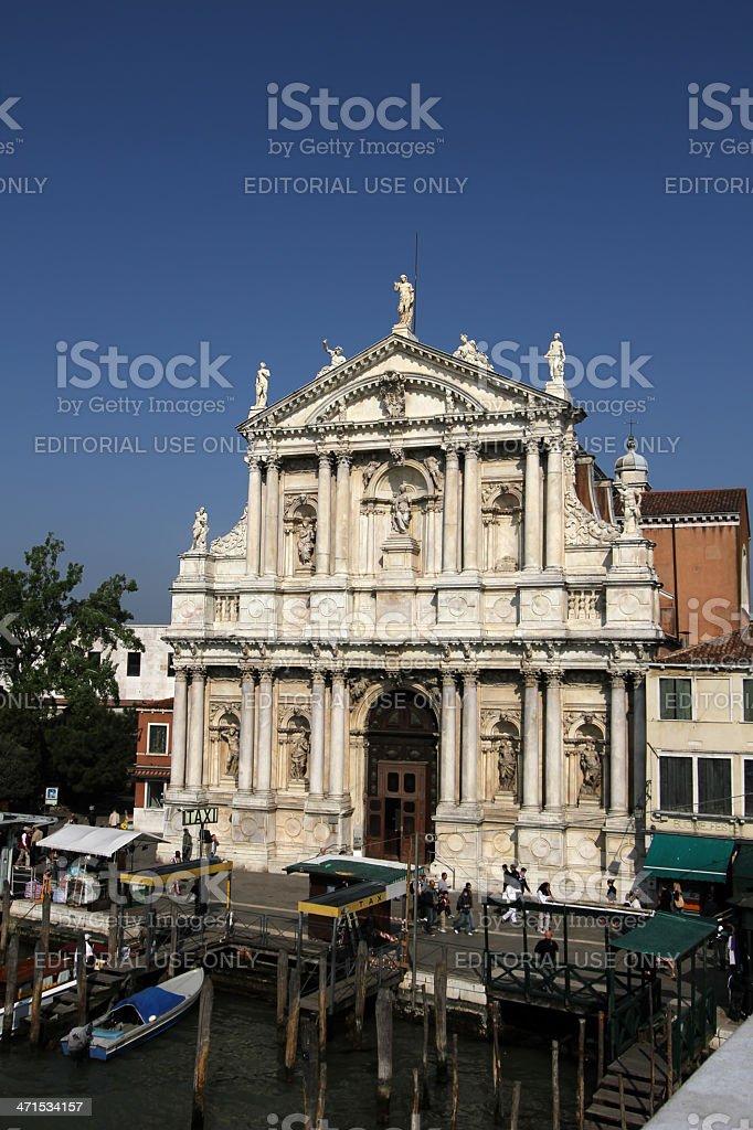 Chiesa degli Scalzi in Venice, Italy stock photo