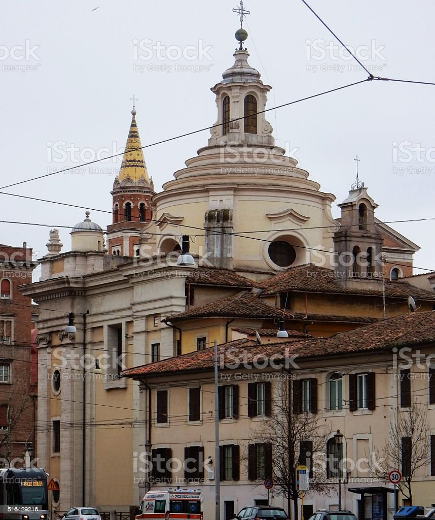 Chiesa dei santi Marcellino e Pietro stock photo