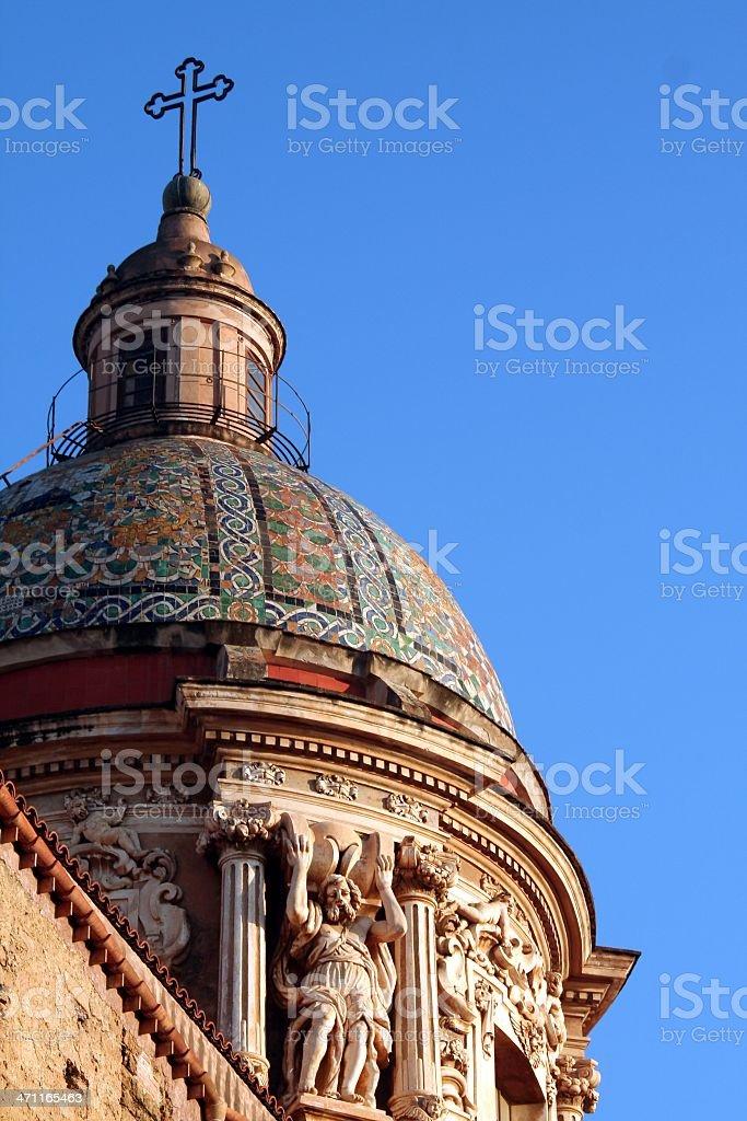 Chiesa del Carmine Maggiore stock photo