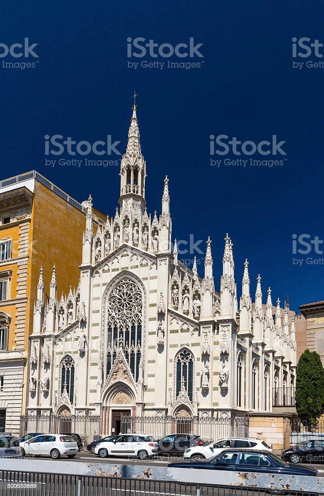 Chiesa del Sacro Cuore del Suffragio in Rome, Italy stock photo