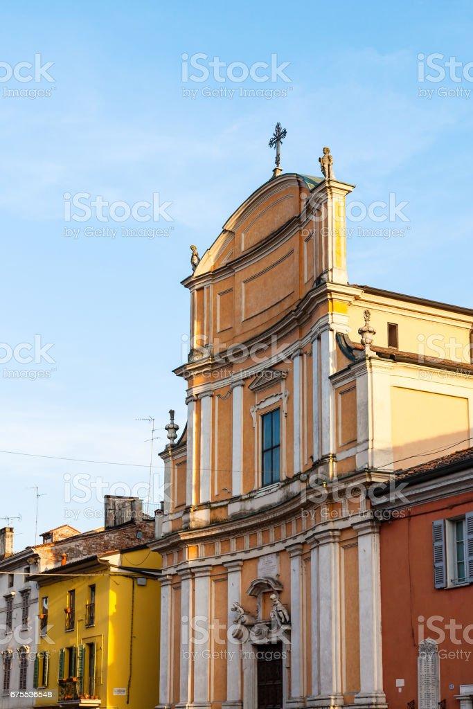 Chiesa di Ognissanti in Mantua city in spring stock photo