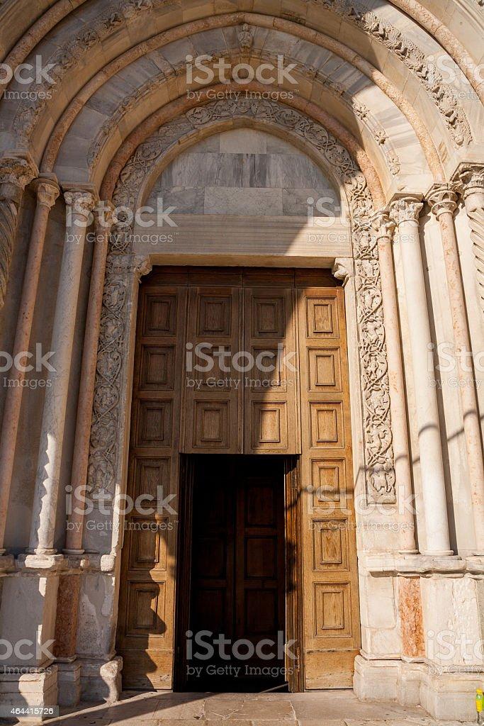 Chiesa di San Ciriaco, Ancona stock photo