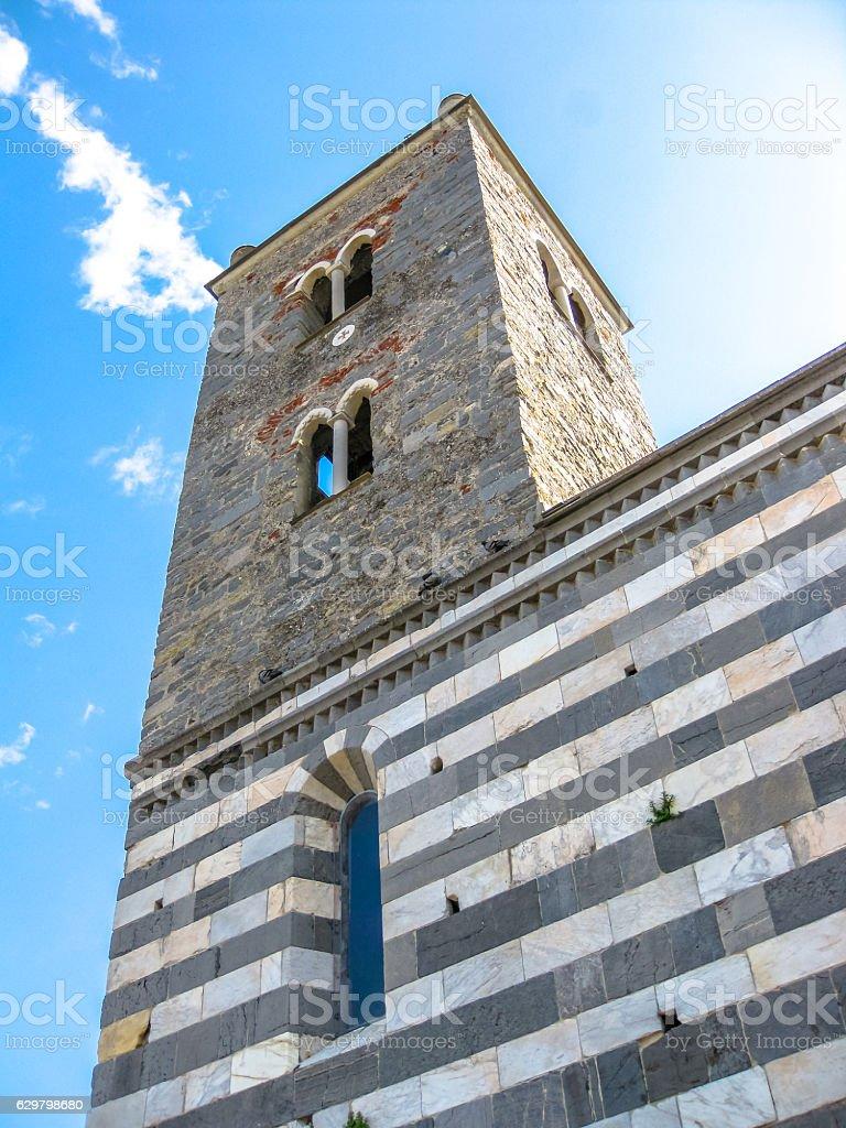 Chiesa di San Pietro Portovenere stock photo