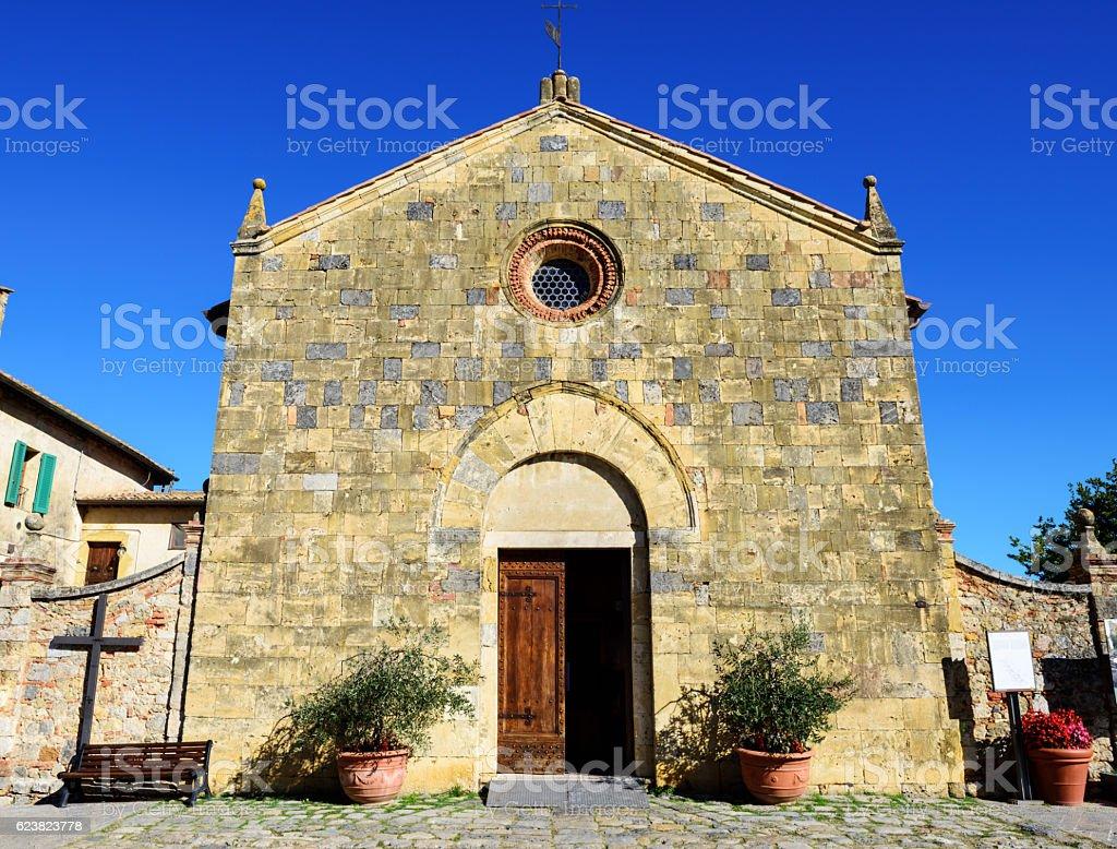 Chiesa di Santa Maria in Monteriggioni, Italy stock photo
