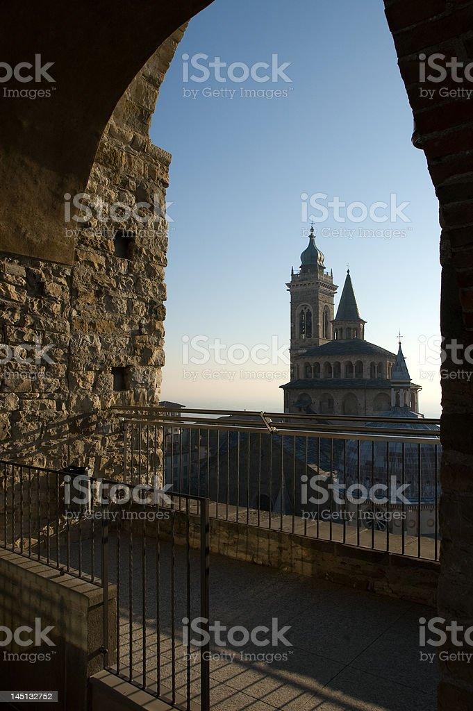 Chiesa di Santa Maria Maggiore in Bergamo stock photo