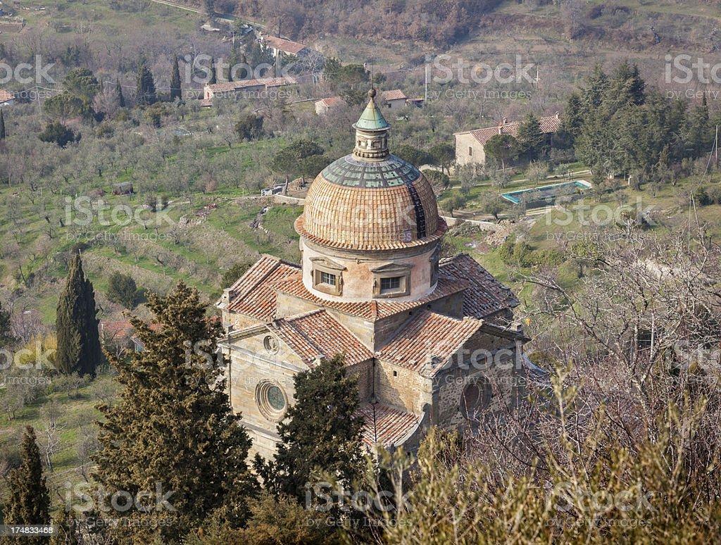 Chiesa di Santa Maria Nuova in Cortona, Tuscany italy royalty-free stock photo