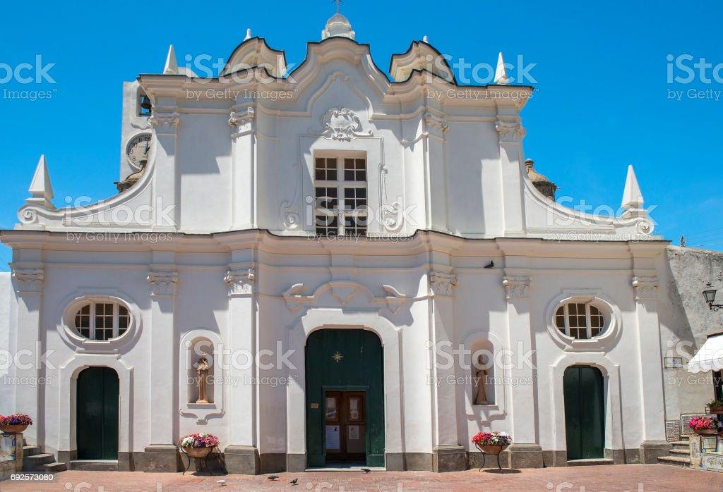 Chiesa di Santa Sofia (Santa Sofia Church) in Anacapri, Capri, Italy stock photo