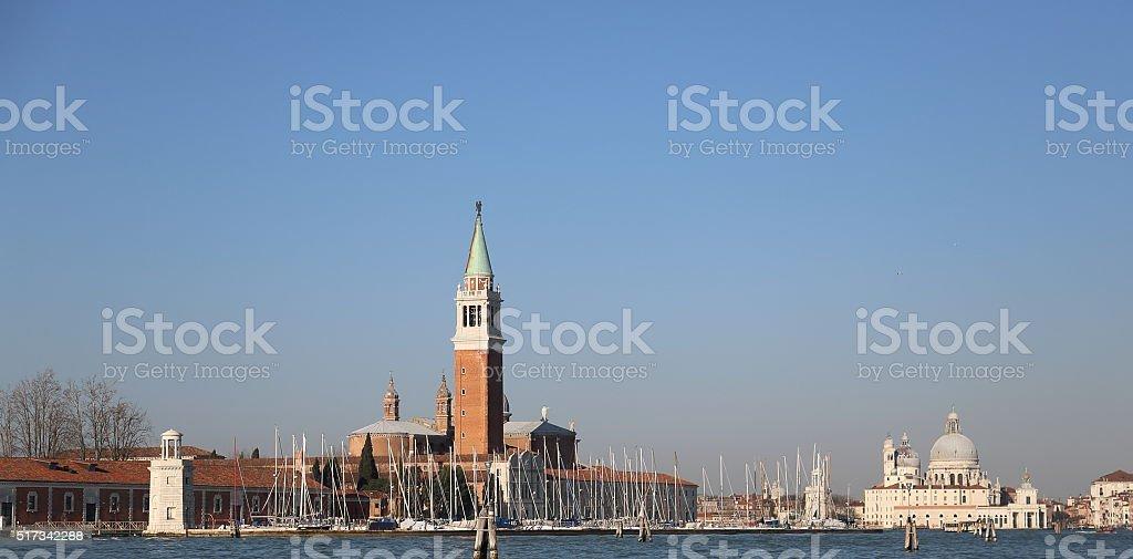 Chiesa San Giorgio Maggiore and Della Madonna Della Salute stock photo