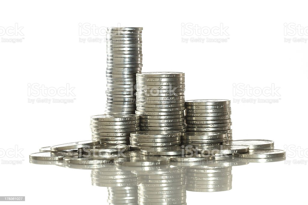 Chiese coins stock photo