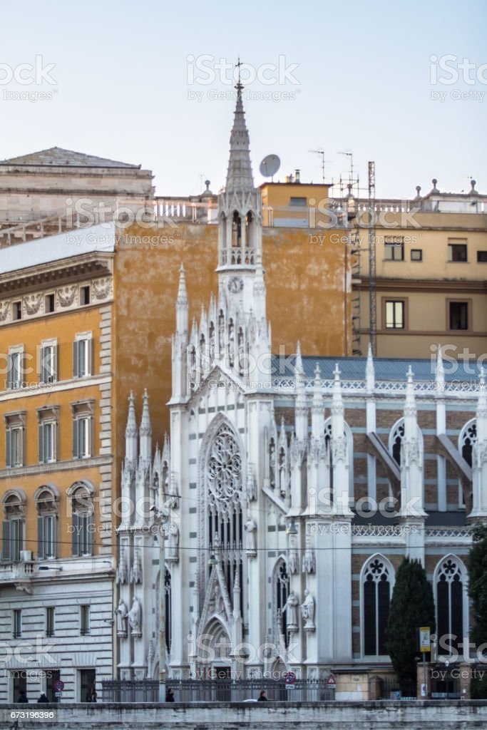 Chiese Parr Sacro Cuore Del Suffragio, Rome stock photo