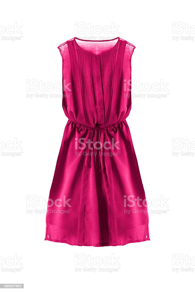 Chiffon dress isolated stock photo
