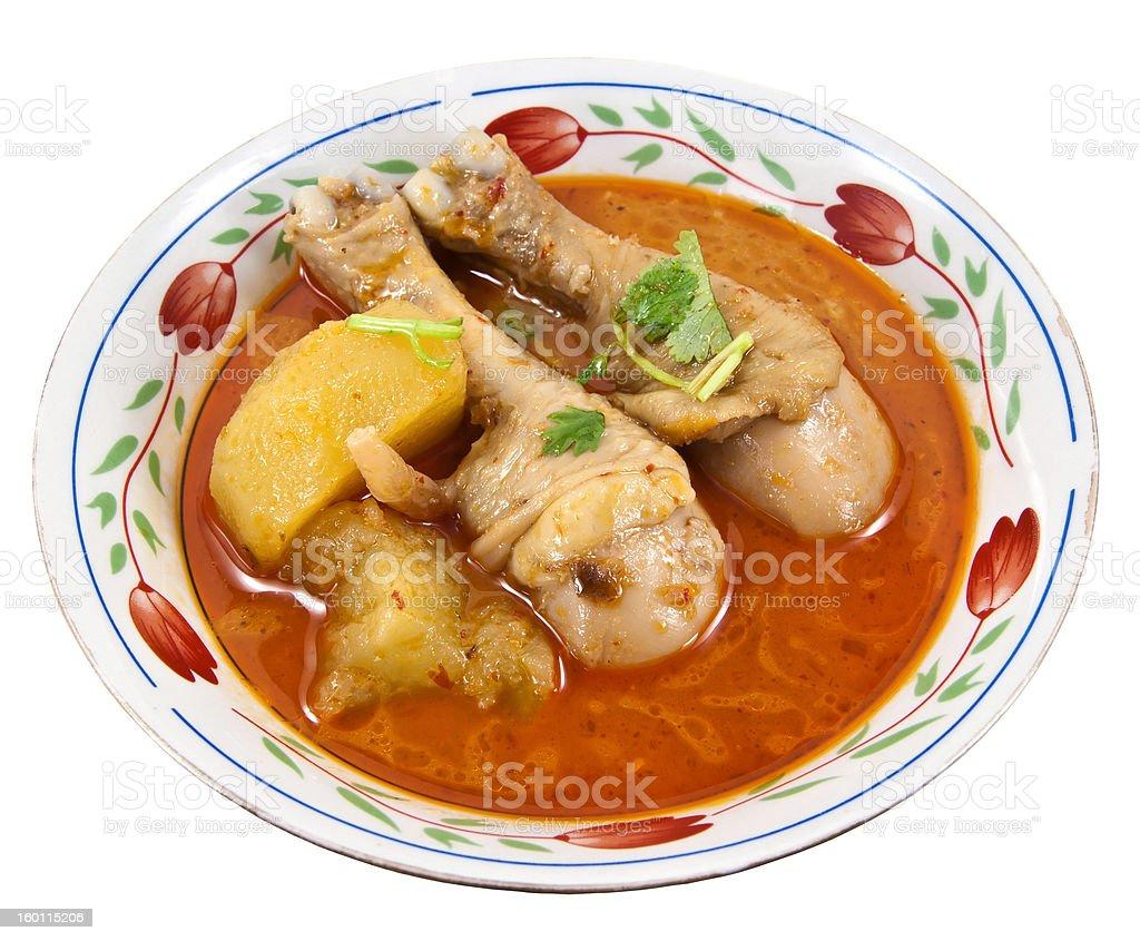 Chiken Massaman curry on bowl. royalty-free stock photo