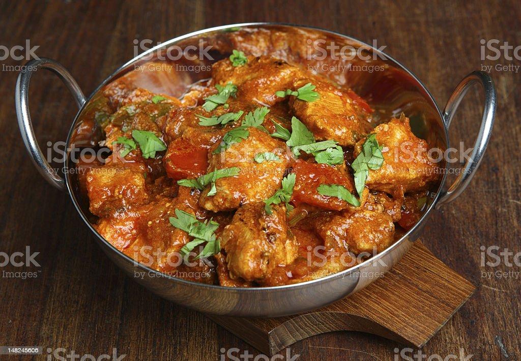 Chiken Tikka Jalfrezi Curry royalty-free stock photo