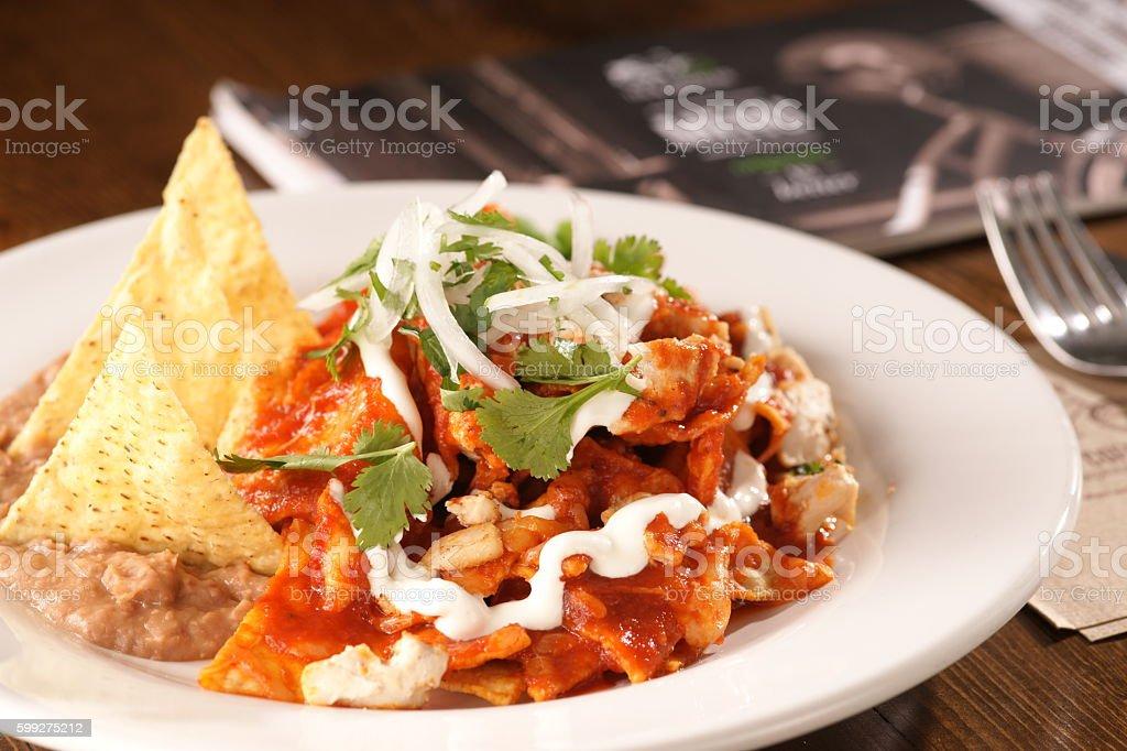 Chilaquiles con Pollo stock photo
