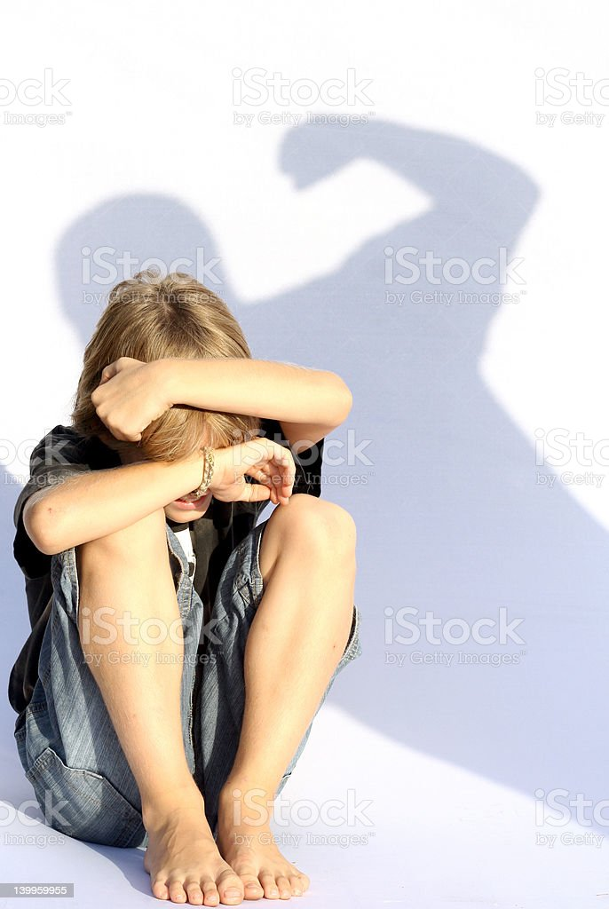 child abuse royalty-free stock photo