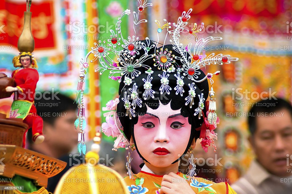 child actors on traditional parade stock photo