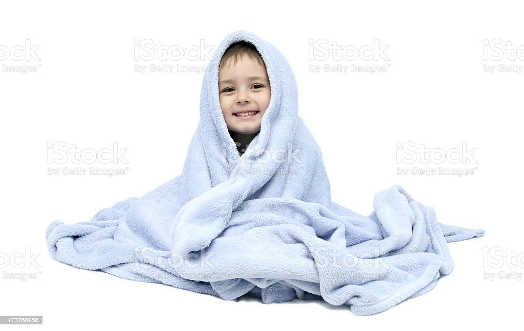 Child after bath stock photo