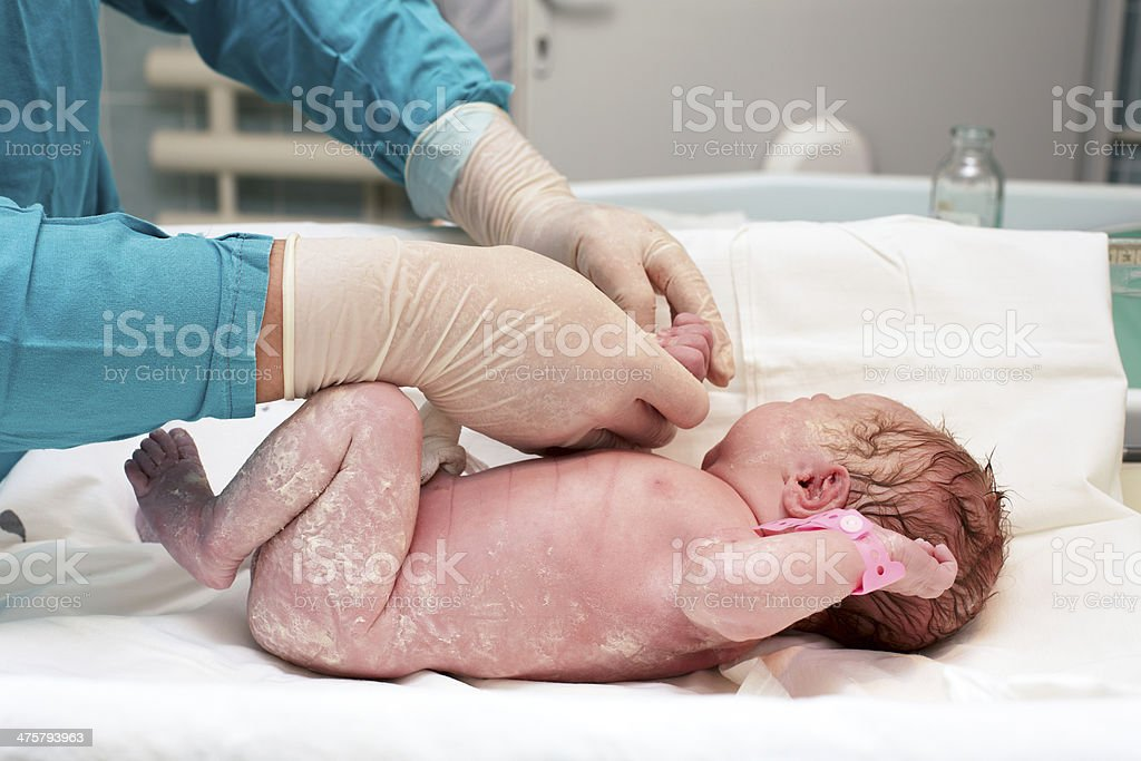 Child after birth stock photo